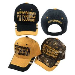 Party Toys Wholesale Hats Merchandise Flea Market Products For Resale -HT4120. PITTSBURGH Hat [Window Shade Font]