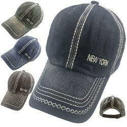 Party Toys Wholesale Hats Merchandise Flea Market Products For Resale -HT5105. 100% Cotton Washed Hat [New York]