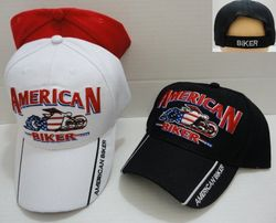 Wholesale Motorcycle Clothing Apparel - HT673. AMERICAN BIKER Hat