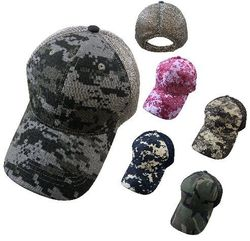 Best Selling Hunting Hats for Men Wholesale - HT156. 100% Cotton Ripstop Plain Camo Hat-Soft Jersey Mesh Back