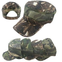 Hunting Hats for Men Wholesale - HT5108. Cadet Hat [Assorted Camo with Mesh]