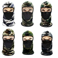 Hunting Hats for Men Wholesale - HT7102. Ninja Face Mask [Camo with Mesh Front]