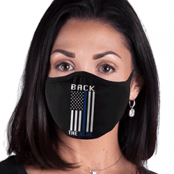 Police Blue Line Flag Art Brands Heat Transfers, Virus Face Masks, Funny Graphic Screen Printed, Wholesale Supplier -M224