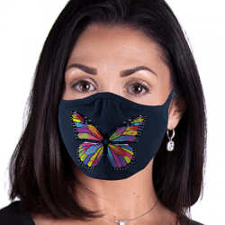 Butterfly Fashion Women Art Brands Heat Transfers, Virus Face Masks, Funny Graphic Screen Printed, Wholesale Supplier - M227