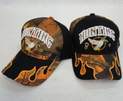 Men's Hats Store Cheap Wholesale Cool Village Bulk Suppliers - HT140. HUNTING Hat [Duck] Camo Flames on Bill