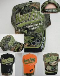 Men's Hats Store Cheap Wholesale Cool Village Bulk Suppliers - HT768. HUNTING Ball Cap--Shut Up and Hunt