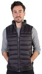 Men's Wholesale Clothing Distributor Store - 4171N-RR2019V-Black-Men's Quilted Vest with Faux Fur Body Lining and S