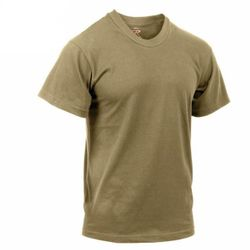 AR 670-1 Army Compliant Coyote Brown Mens Military T-Shirt Poly Cotton Multicam OCP Scorpion Uniform Approved- MSC Distributors