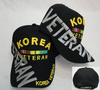 Hats Caps Wholesale Bulk Supplier - Military Patriotic Veteran - HT506. Korea Veteran [Large Letters]