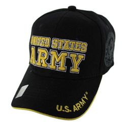 Military Caps And Hats Cheap Wholesale Online Drop Shipping - HT5382-3. Licensed Black UNITED STATES ARMY Hat [Shadow Seal]