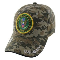 Military Caps And Hats Cheap Wholesale Online Drop Shipping - HT5382-6. Licensed Camo United States Army Seal Hat