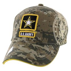 Military Caps And Hats Cheap Wholesale Online Drop Shipping - HT5382-8. Licensed Camo ARMY (Star Logo) Hat [Shadow]