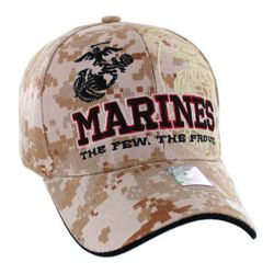Military Caps And Hats Cheap Wholesale Online Drop Shipping - HT9145-4. Licensed Marines Hat [The Few. The Proud.] Camo