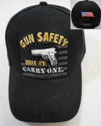 Hats Caps Bulk Gun Safety Wholesale Suppliers - HT364. Gun Safety Rule #1 Carry One Hat