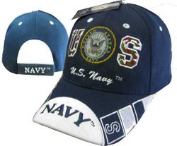 Wholesale Military Hats For Men - Navy Ball Caps Embroidered - MSC Distributors