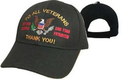 Best Selling Military Hats and Caps Wholesale - CAP605B To All Veterans Thank You!