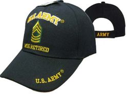 MSC Distributors : Bulk Caps Hats Supplier Wholesale Military Embroidered American USA - CAP560D Army MSG Retired Cap