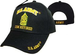 MSC Distributors : Bulk Caps Hats Supplier Wholesale Military Embroidered American USA - CAP560G Army CSM Retired Cap