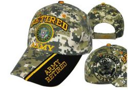 Military Wholesale Buy Cheap Products - Army Retired Hats Embroidered Wholesale Bulk Suppliers - MSC Distributors
