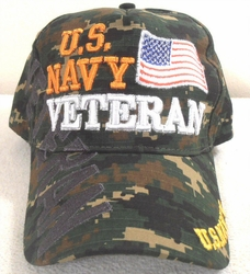Military Hats Caps Wholesale Bulk Suppliers Massachusetts - Navy Vet SKU 407