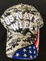 Military Hats Caps Wholesale Bulk Suppliers Massachusetts - Navy Wife SKU 208