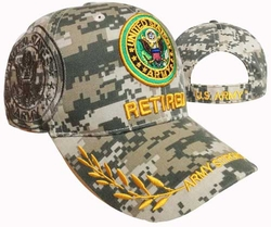 Hats Caps Military Army Retired Wholesale Bulk Suppliers Massachusetts - CAP591GC Army Retired Emblem Cap
