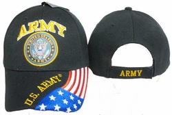Military Hats Caps Wholesale Licensed Supplier Bulk Massachusetts - CAP601G Army Emblem Flag Cap