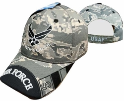 Military Hats Caps Wholesale Licensed Supplier Bulk Massachusetts - CAP603UC AF Wings Air Force Bill Cap. Camo