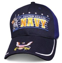Military Caps And Hats Cheap Wholesale Online Drop Shipping - HT4008. Licensed Navy Ball Cap [Eagle Horizon]