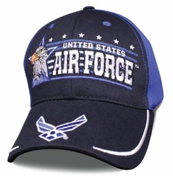 Hats Caps Wholesale Bulk Supplier - Military Patriotic Veteran - HT5008. Licensed Air Force Ball Cap [Eagle Horizon]