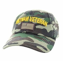 Vietnam Veteran Military Hats Wholesale - BM701-82 Vietnam Veteran Cotton Baseball Velcro Cap (Solid Military Cap
