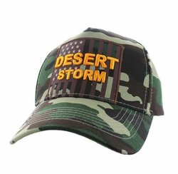 Military Hats Wholesale Bulk Supplier - VM778-02 American USA Desert Storm Velcro Cap (Solid Military Camo)
