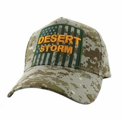 Military Hats Wholesale Bulk Supplier - VM778-03 American USA Desert Storm Velcro Cap (Solid Digita Camo)