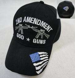 Hats Caps Wholesale Bulk Supplier - Military HT396. 2nd Amendment Hat [God-Guns]