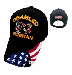 Hats Caps Wholesale Bulk Supplier - Military HT429. DISABLED VETERAN Ball Cap