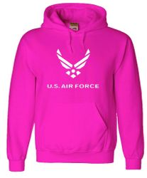 Bulk Wholesale Clothing US Air Force Hoodies Military Suppliers - Pink - MSC Distributors