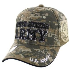 Wholesale Clothing, Best Selling Army Military Wholesale Hats Caps Men's Bulk Suppliers - Licensed Camo UNITED STATES ARMY Hat [Shadow Seal]