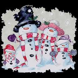 MSC Distributors: Shop Snowman Familiy Holiday Seasonal T Shirts Cheap Wholesale Bulk Suppliers - 22561HD3