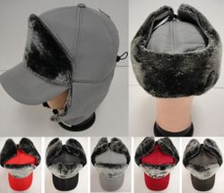 MSC Distributors : Winter Hats Wholesale - WN670. Aviator Baseball Hat with Soft Fur [Solid]
