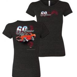 Wholesale Women's American Muscle Car T Shirts Bulk Suppliers - NSG-220-69-Camaro-Ladies