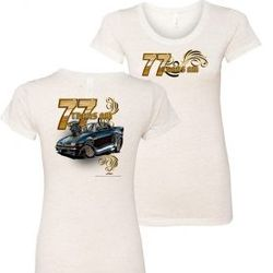 Wholesale Women's American Muscle Car T Shirts Bulk Suppliers - NSG-221-77-Trans-Am-Ladies