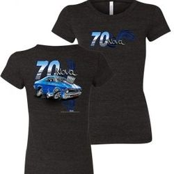 Wholesale Women's American Muscle Car T Shirts Bulk Suppliers - NSG-223-70-Nova-Ladies