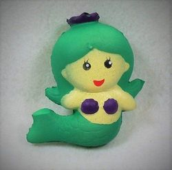 Party Toys Wholesale Toys Suppliers - Party Supplies - Kids Toys Games - TY1011. Slow Rising Squishy Toy Green Mermaid