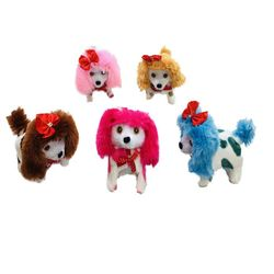 Party Toys Wholesale Merchandise Suppliers - Party Supplies - Kids Toys Games - TY618. Barking and Walking Dog [Long Fuzzy Ears & Tail Spotted]