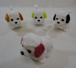 Party Toys Wholesale Merchandise Suppliers - Party Supplies - Kids Toys Games - TY622. Barking and Walking Dog [White with Colored Ears]