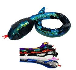 Party Toys Wholesale Merchandise Suppliers - Party Supplies - Kids Toys Games - TY656. 48 Reversible Sequin Plush Snake