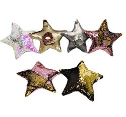 Party Toys Wholesale Merchandise Suppliers - Party Supplies - Kids Toys Games - TY660. 11x11 Reversible Sequin Pillow [Star]