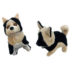 Party Toys Wholesale Merchandise Suppliers - Party Supplies - Kids Toys Games - TY681. Barking and Walking Dog [German Shepherd with Chain]