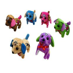 Party Toys Wholesale Merchandise Suppliers - Party Supplies - Kids Toys Games - TY682. Barking and Walking Dog [Two-Tone with Puppy Accents]