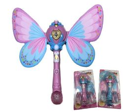 Party Toys Wholesale Bulk Merchandise Distributors - Party Supplies - Kids Toys Games - TY710. 12 Light and Sound Fairy Bubble Wand with Wings